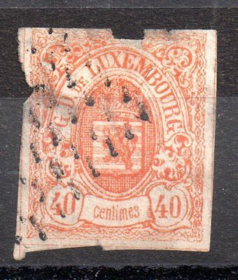 Luxembourg 1859 40c imperf  spacefiller SC#12 ZZ1778