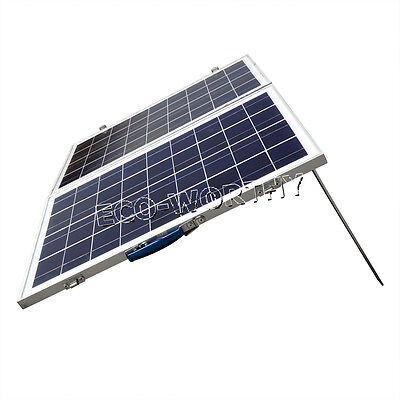 50W 2*25W Portable Folding Poly PV Solar Panel for 12V Home RV Camping Caravan