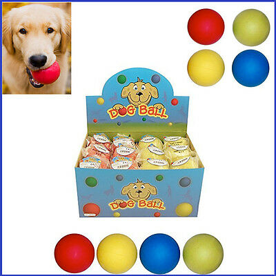 Bouncy Dogs Play Ball Cat Pets Fetch Training Rubber Balls Chew Throw Exercises