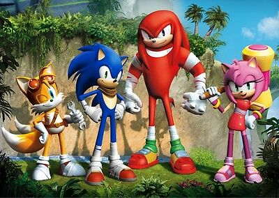 Sonic The Hedgehog Poster Print Borderless Stunning Vibrant Sizes A2 A3 A4
