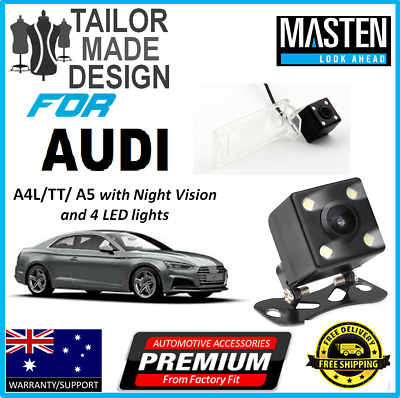 ^Rear View Reversing CCD Cam For AUDI A4L TT A5 Q5 TT Video Cable & Trigger Wire