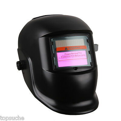 Variable-Shade filtro LCD D Auto Solar soldadura de oscurecimiento Casco-black
