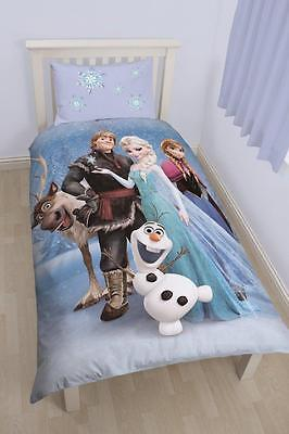 Disney Frozen Stellar Panel Single Bed Set Duvet Cover & Pillowcase Elsa Anna