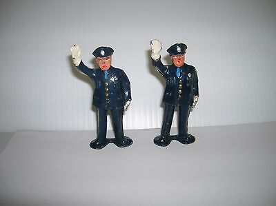 """Police Officers 2 pieces ,die cast , maker unknown , 3 1/2"""" high lot # 8846"""