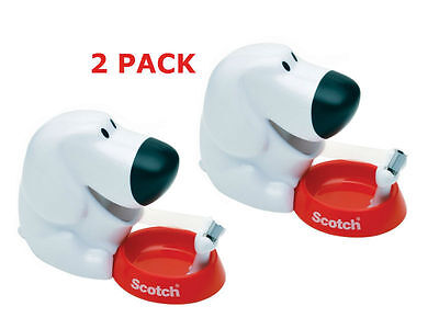 Scotch Dog Tape Dispenser with Magic Tape (C31-DOG) (2 Pack) NEW