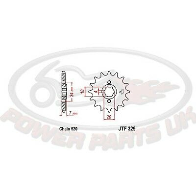 Pinion 16Z Tooth Pitch 520 Coarse 4 Inside Diameter 18/20 For Honda Ca 125