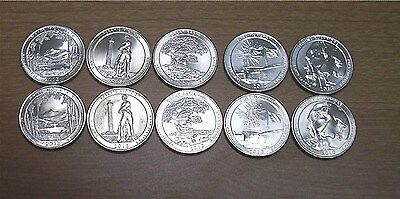 2013 National Park Quarters  P& D Yearly Uncirculated coin set
