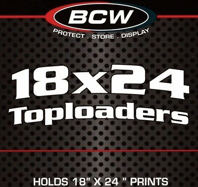 5 New BCW Topload 18X24 Print Poster Toploaders Holders Sleeves Protectors Lot
