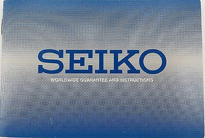 1995 Seiko Worldwide Guarantee And Instructions Booklet