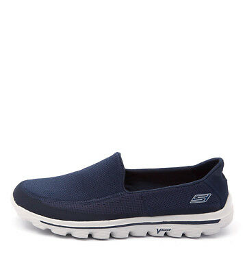 New Skechers 53590 Go Walk 2 Navy Grey Mens Shoes Casual Sneakers Casual