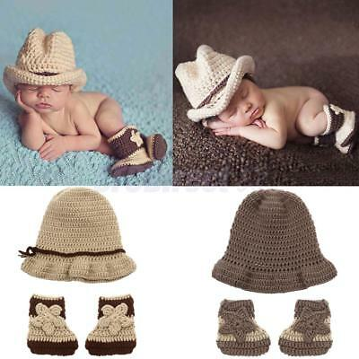 Baby Crochet Hats Shoes Newborn Infant Photography Props Photo Props Accessories