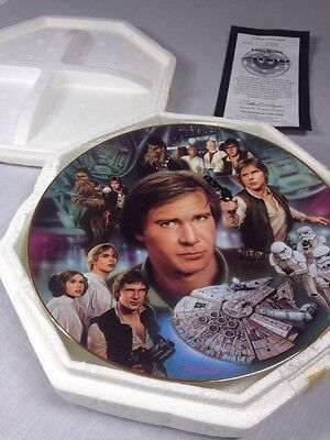 """Star Wars Plate """"Han Solo"""" Heroes And Villains Hamilton Collection"""