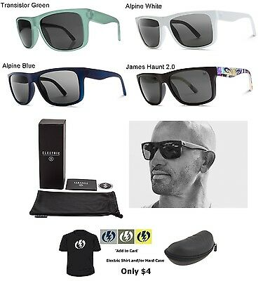 NEW Electric Swingarm Ohm Grey Melanin Square Mens Sunglasses Msrp$80