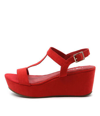 New I Love Billy Grace Red Womens Shoes Casual Sandals Heeled
