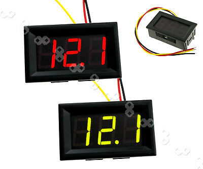 DC 0-99V 3 Wire LED Digital Display Panel Volt Meter Voltage Voltmeter Car Motor