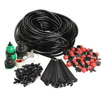 25M Watering System Automatic Timer Plant Water Drip Irrigation Tool Garden Hose