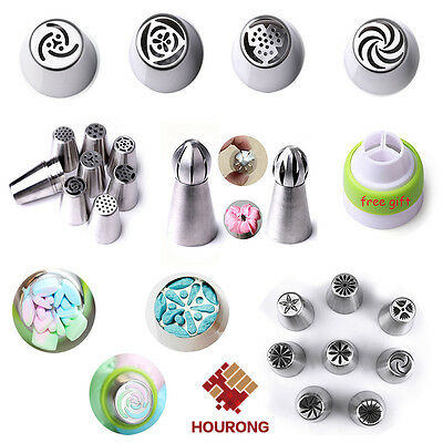 Russian Stainless Icing Piping Nozzles Set Pastry Tips Fondant Buttercream Decor