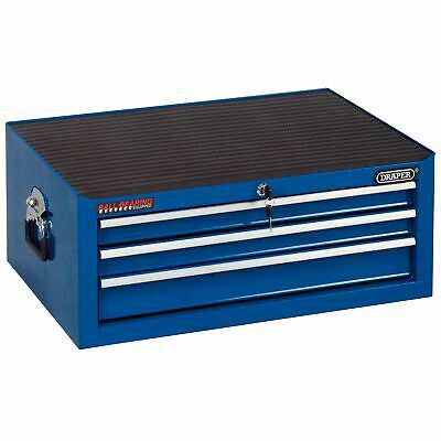 Draper 3 Drawer Blue Intermediate Garage Work Tool Storage Chest - 80238