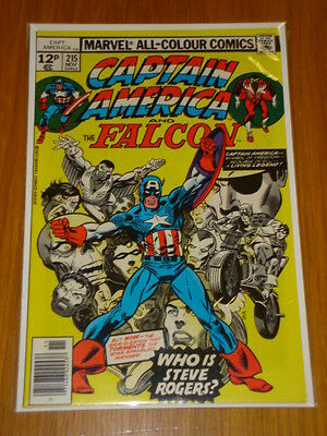 Captain America #215 Marvel Comic Near Mint Origin November 1977