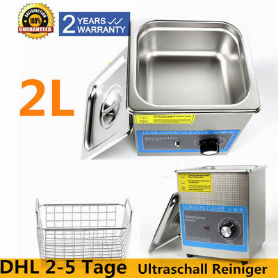 2L Ultrasonic Cleaner Ultraschallreinigungsgerät Ultraschall Reiniger + korb DE!