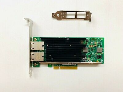 Intel X540-T2 10 Gigabit 10GBe 10Gbit Dual Port Converged Server Adapter PCIe