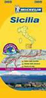 Michelin Map 365 Sicily Italy Local Road and Tourist