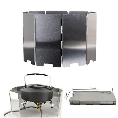 9 Plates Foldable Burner Windshield Outdoor Camping Cooking Picnic Wind Shield