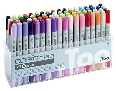 Copic Ciao - 72A Manga Marker Set Twin Tipped Refillable With Copic Various Inks