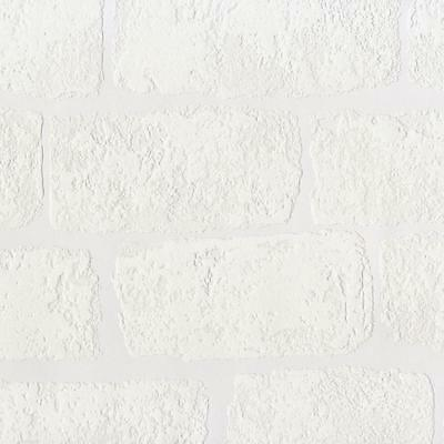 New Anaglypta Lincolnshire White Brick Pattern Textured Paintable Wallpaperrd812
