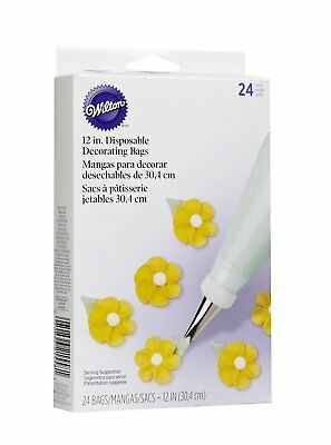 """Wilton 24 Pack Disposable 12"""" Cake Decorating Sugarcraft Icing Candy Melts Bags"""