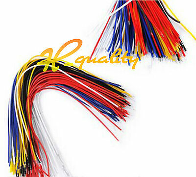 100PCS 20CM Color Flexible Two Ends Tin-plated Breadboard Jumper Cable Wires