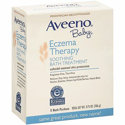 Aveeno Baby Eczema Therapy Soothing Baby Bath Treatment, 5 Count-3.75oz