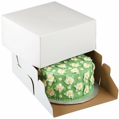 Wilton 2 Pk CORRUGATED 10 X 10 X 5 Inch Cakes Cupcakes Muffins Decorating Box
