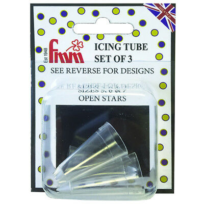 FMM Piping Icing Decoration Decorating Sugarcraft Open Stars Nozzle Tip Set