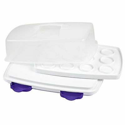 Wilton ULTIMATE 3 IN 1 Caddy Cake Mini Cupcakes Brownie Transporting Storing Box