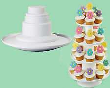 Wilton 4 Tier Dessert Tower Mini Cakes Treats Party Decorating Decoration Stand