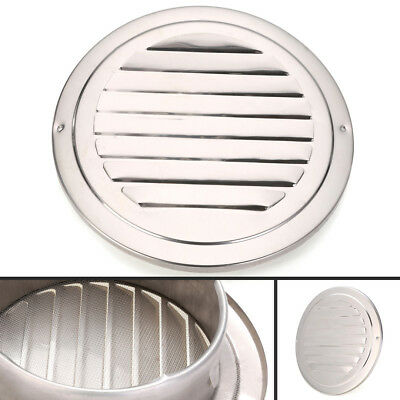 """4""""/6"""" Stainless Circle Air Vent Grille Ducting Ventilation Cover Ceiling Wall"""