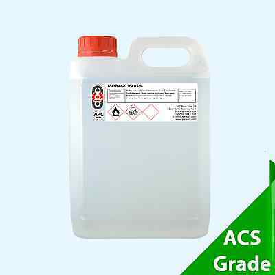 Methanol 99.85% ACS 5 Litre (5L) *High Purity Virgin Solvent - Shipped Legally*