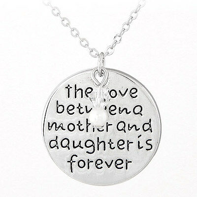 The Love Between Grandmother /& Granddaughter Is Forever Charm Necklace D33