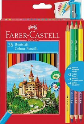 Faber Castell Classic Colour Pencil Sets of 24 and 36 With Free Sharpener
