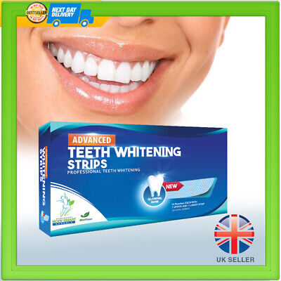 28 Teeth Whitening Strips Advanced Professional Tooth Bleaching White 3D Strip
