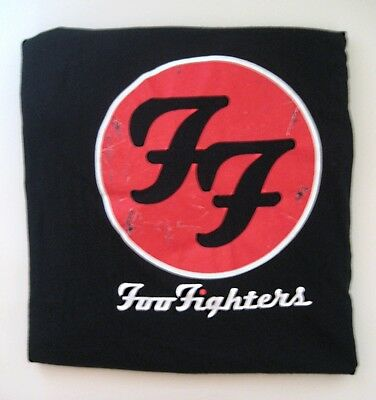 Unusual Foo Fighters Black with Red & White Graphics T-Shirt XL -See Description