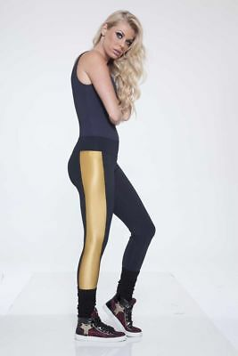 Women's Diva Fitness Wear Gold Legging Compression, Yoga, Running, Gym, Cycle