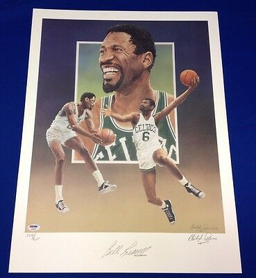 Bill Russell Lithograph Signed by Bill & Artist Christopher Paluso #244/600
