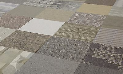 "BEIGE TAUPE BROWN COLOR FAMILY 24"" x 24"" CARPET TILES"