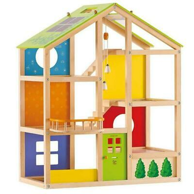 Hape All Seasons Wooden Dollhouse (Unfurnished)