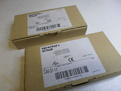 SPRECHER and SCHUH - Qty of 2 Side Mount Auxiliay Contacts CA6-S1-11 - N/O + N/C