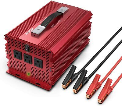 BESTEK 2000W/4600 Watt Power Inverter 12V DC to 110V AC Adapter Charger Supply