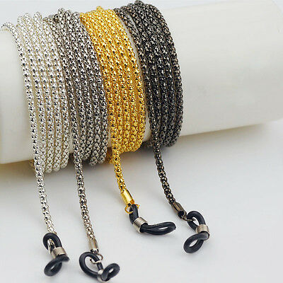3Colors Reading Glasses Holder Neck Chain Cord Metal Strap Spectacles Sunglasses
