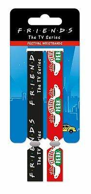 FRIENDS (CENTRAL PERK) Pack Of 2 Fabric Festival Wristbands BY PYRAMID